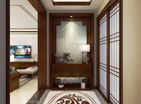 天山熙湖159㎡三居室新中式設計