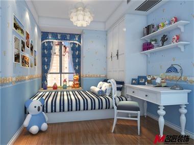 地中海卧室背景墙效果图