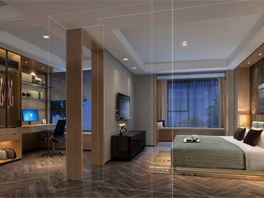 现代卧室隔断效果图