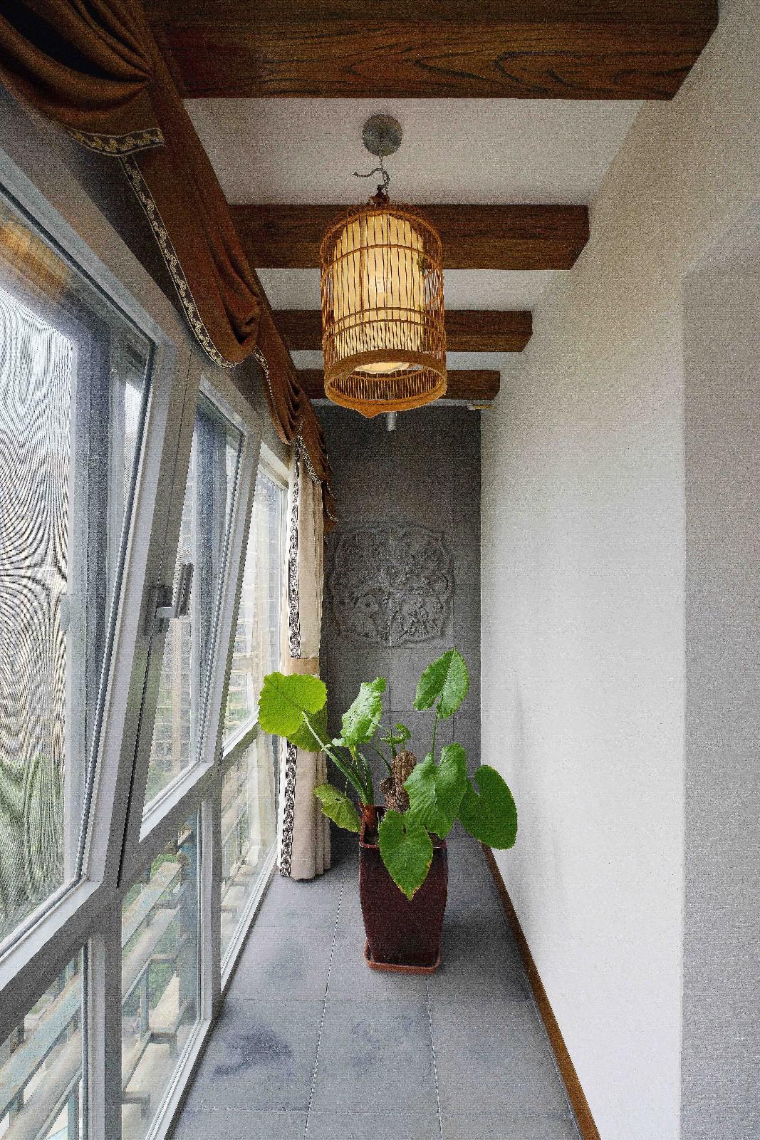 中式阳台吊顶实景图