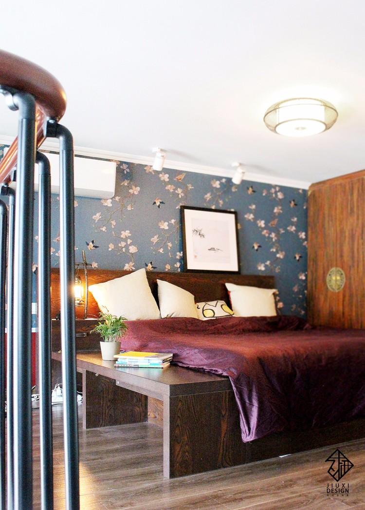 中式卧室阁楼实景图