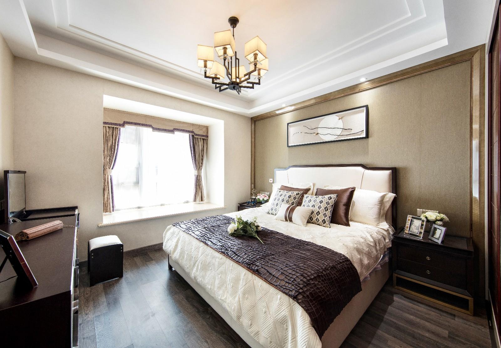 中式卧室吊顶实景图