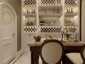 美式酒窖酒柜效果图