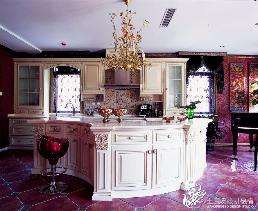 混搭厨房吧台实景图