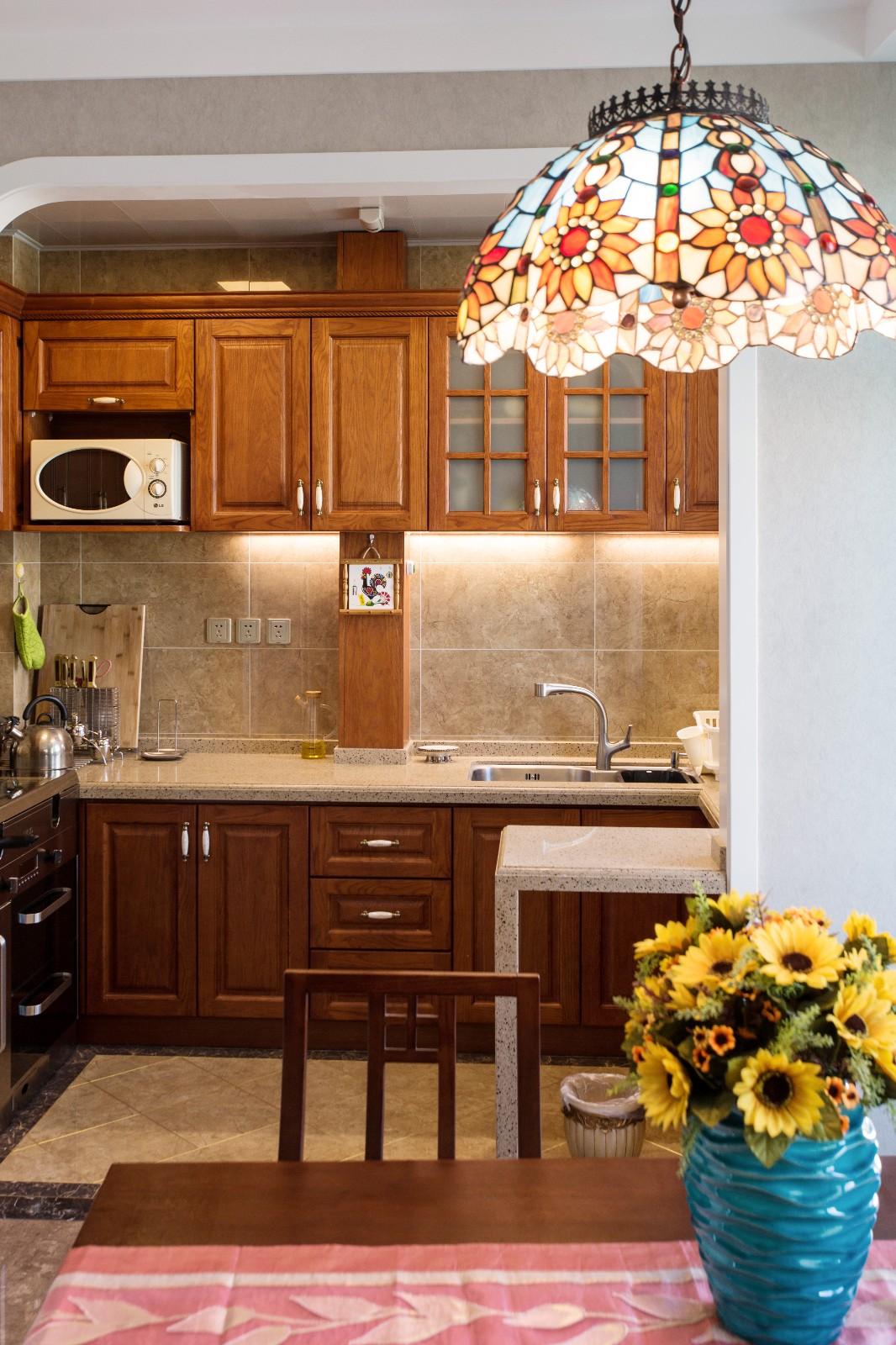 混搭厨房橱柜实景图