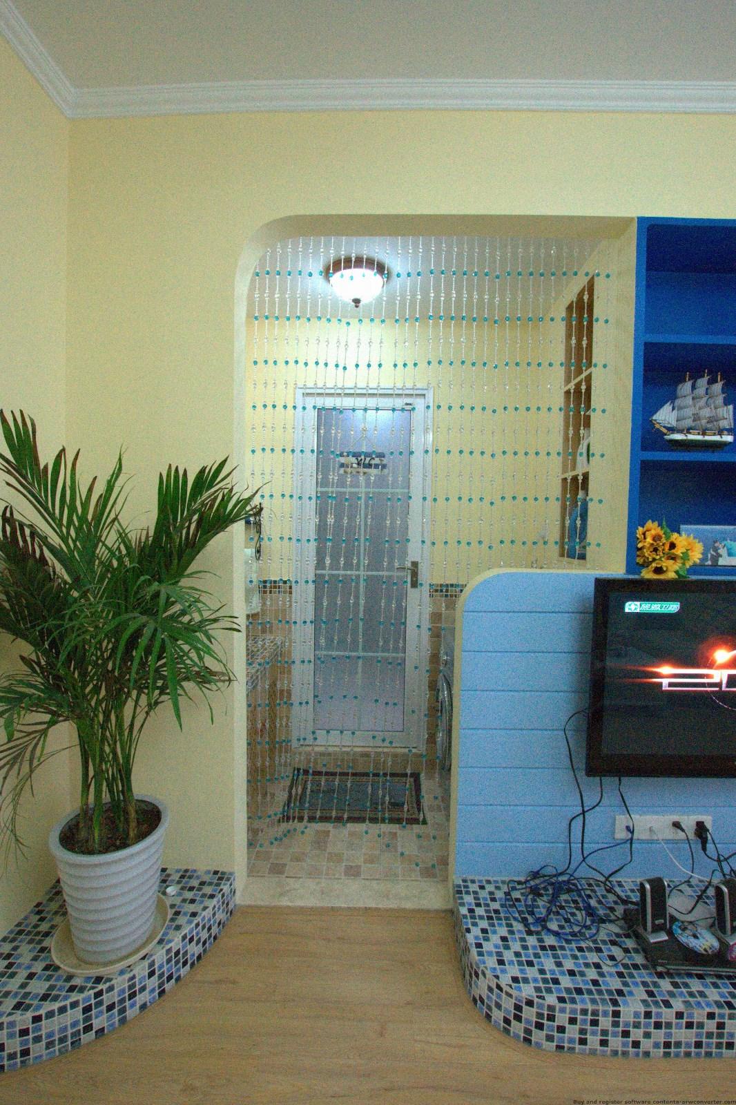 地中海客厅背景墙实景图