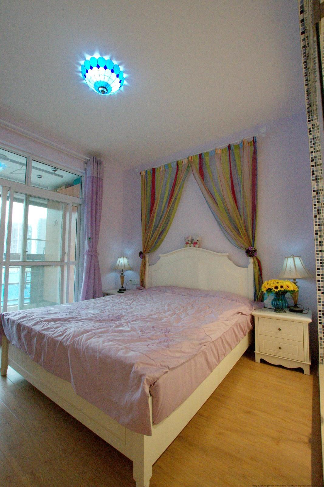地中海卧室吊顶实景图