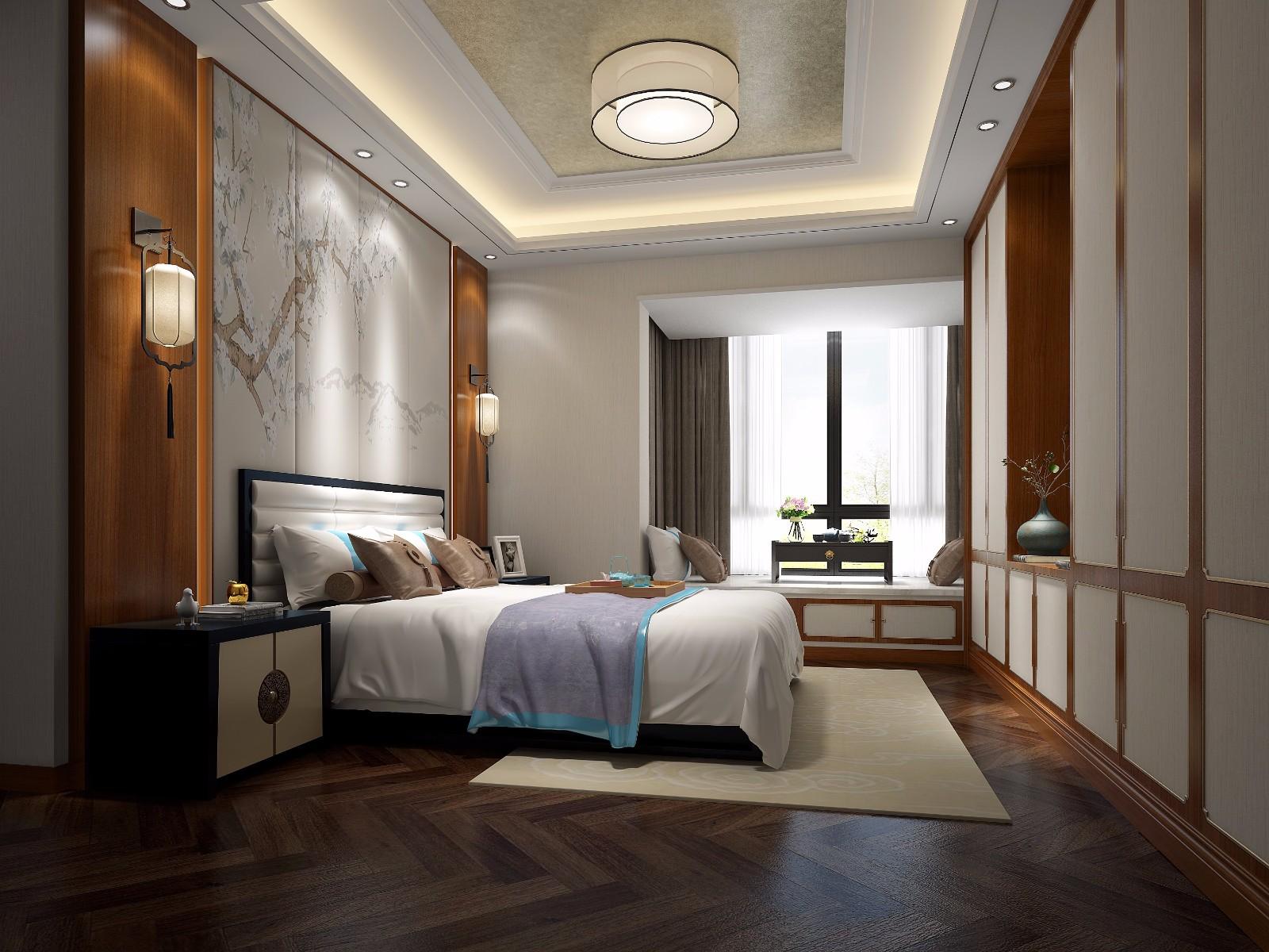 中式卧室吊顶效果图