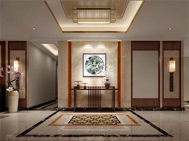 中式玄关吊顶效果图