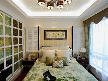 欧式卧室吊顶实景图
