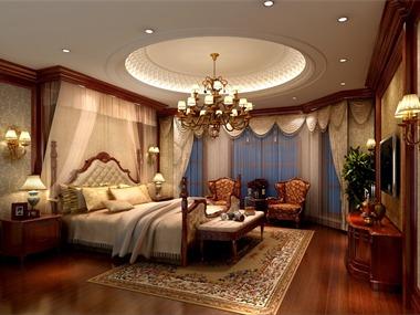 美式臥室吊頂效果圖
