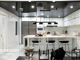 现代厨房吧台实景图