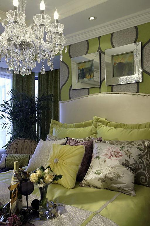 古典混搭风格装修实景图卧室
