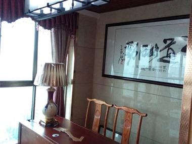 中式书房工作区效果图