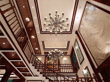欧式客厅吊顶效果图