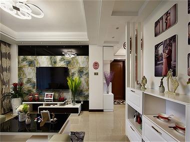 现代风格时尚婚房客厅