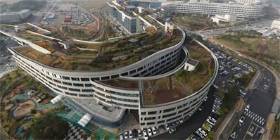 世界最大屋顶花园 韩政府大楼屋顶花园足有11个足球场大
