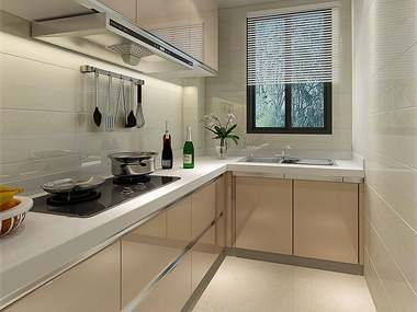 现代厨房橱柜效果图