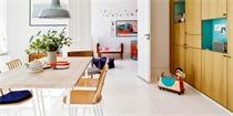 哥本哈根100平米四口之家 法式装饰与简约北欧的完美结合