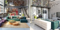 旧工厂改造住宅 变身夹层loft住宅,粗犷中带质感与格调