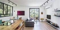 以色列85平米公寓扩建 打造成110平米的绿色空间
