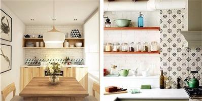 告别千篇一律的白瓷砖 厨房背景墙这样设计更漂亮