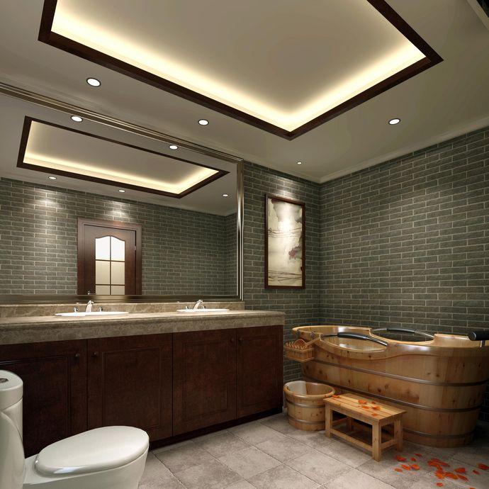 混搭卫生间背景墙效果图