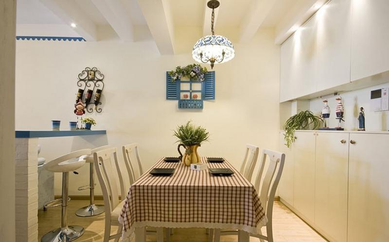 地中海餐厅背景墙实景图