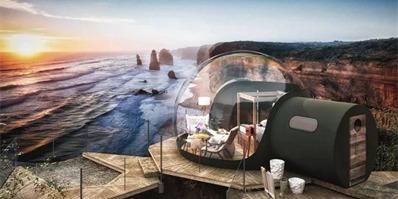 透明泡泡小屋 让您在星空下舒适入眠