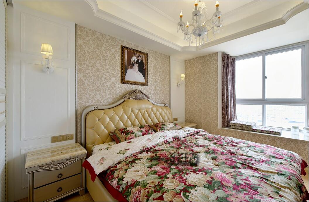 简欧卧室吊顶实景图